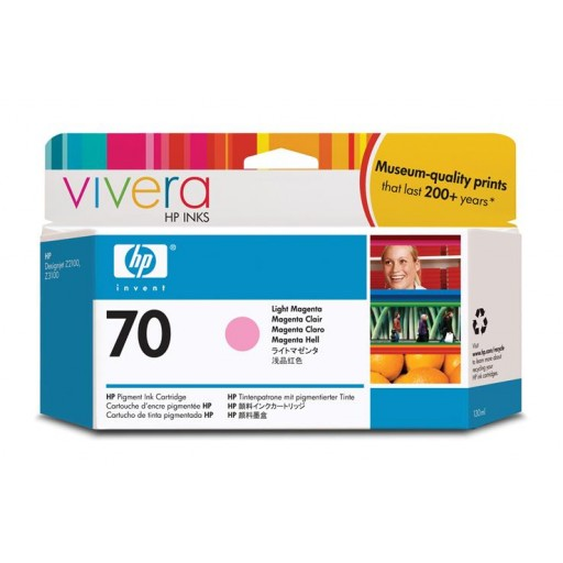 HP C9455A No.70 Ink Cartridge - Light Magenta Genuine