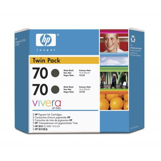 HP CB339A No.70 Ink Cartridge - Matte Black Twin Pack Genuine