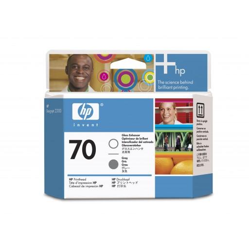 HP C9410A No.70 Gloss Enhancer & Grey Printhead Genuine