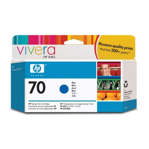 HP C9458A No.70 Ink Cartridge - Blue Genuine