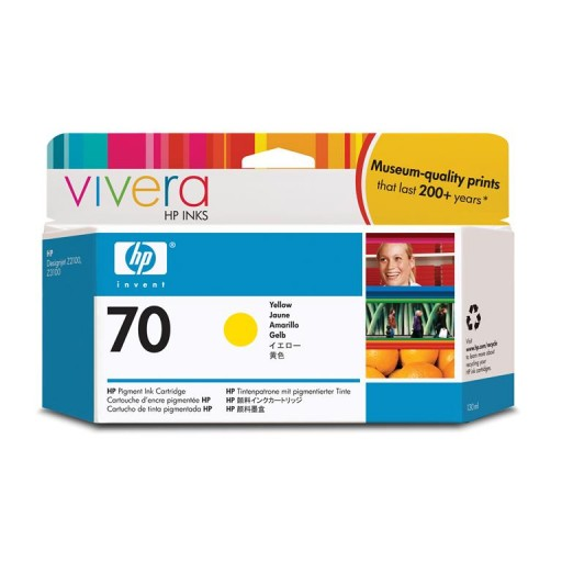 HP C9454A No.70 Ink Cartridge - Yellow Genuine