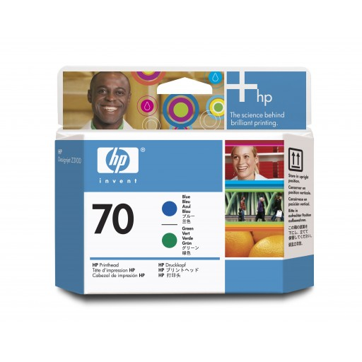 HP C9408A, Blue and Green Printhead, Designjet Z3100, Z3200- Original