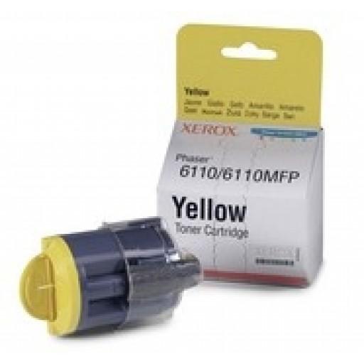 Xerox 106R01273, Toner Cartridge Yellow, Phaser 6110- Original