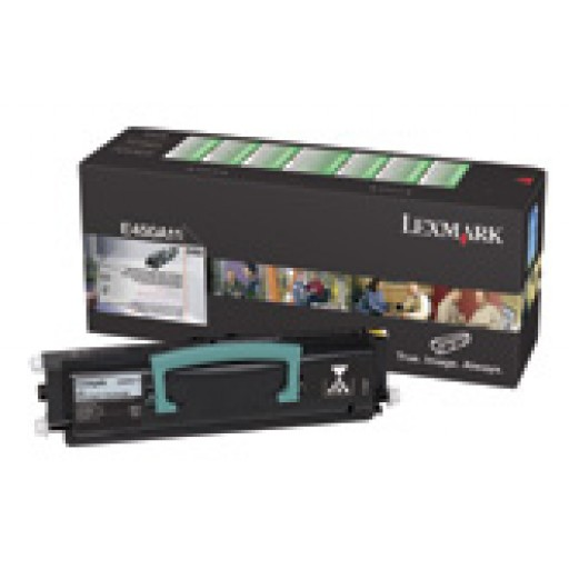 Lexmark 450H11E, Toner Cartridge- HC Black, E450- Genuine