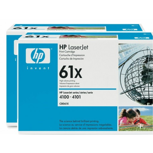 HP C8061D, Toner Cartridge HC Black Multipack, 4100, 4101- Original