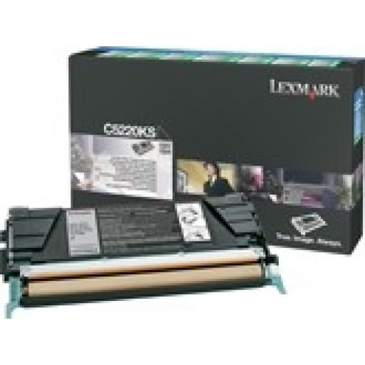 Lexmark C5220KS, Toner Cartridge- Black, C522, C524- Genuine