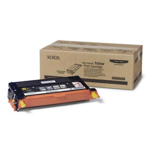 Xerox 113R00725, Toner Cartridge- HC Yellow, Phaser 6180- Original