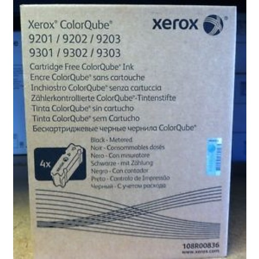 Xerox, 108R00836, Color Qube Ink- Black, 9201, 9202, 9203- Original
