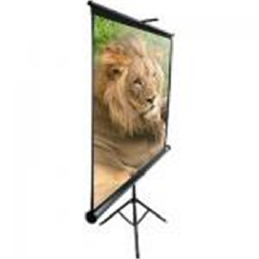 Elite T84UWV1-BLACK Tripod Pull up Projection Screen