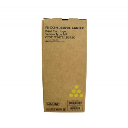 Ricoh 841360, Toner Cartridge Yellow, MP C6501, C7501- Original