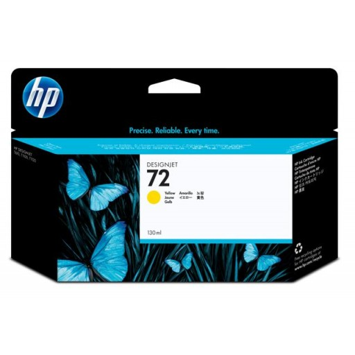 HP C9373A No.72 Ink Cartridge - HC Yellow Genuine