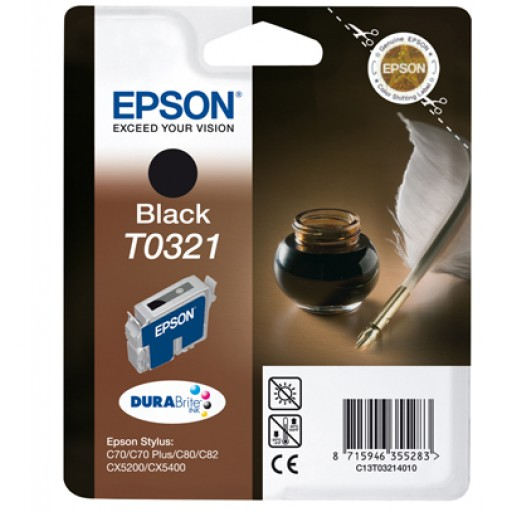 Epson T321 Ink Cartridge - Black Genuine