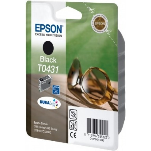 Epson T0431 Ink Cartridge - HC Black Genuine