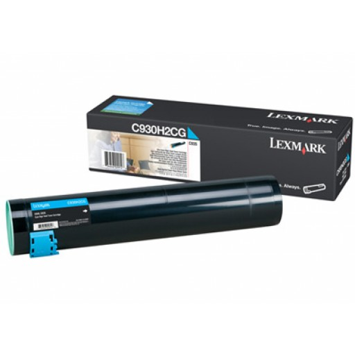 Lexmark C930H2CG, Toner Cartridge- HC Cyan, C935- Original