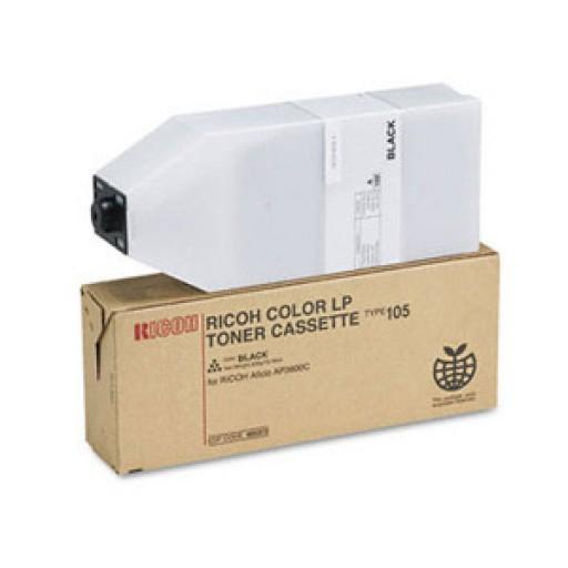 Ricoh 885406 Toner Cartridge Black, Type 105, AP3800C, CL7000, CL7100 - Genuine