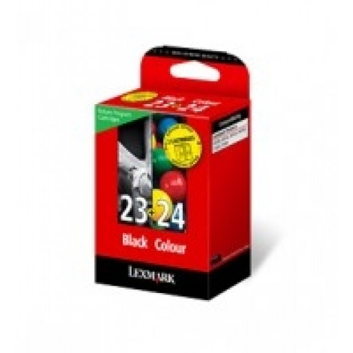 Lexmark 18C1419E No.23 / No.24  Ink Cartridge - Black & Tri-Colour Multipack Genuine
