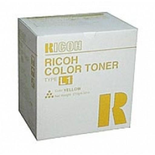 Ricoh 887896 Toner Cartridge Yellow, Type L1, AC6010, AC6110, AC6513 - Genuine