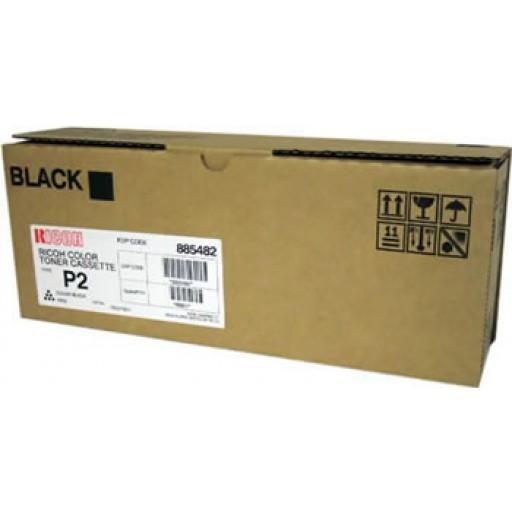 Ricoh 885482 Toner Cartridge HC Black, Type P2,  2228C, 2232C, 2238C - Genuine