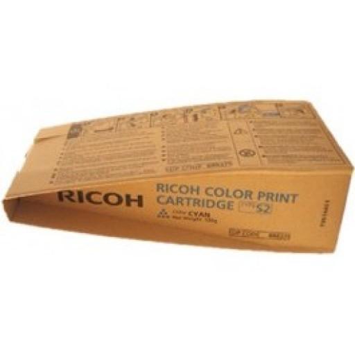 Ricoh 888375 Toner Cartridge Cyan, Type S2, 3260C, 5560C - Genuine