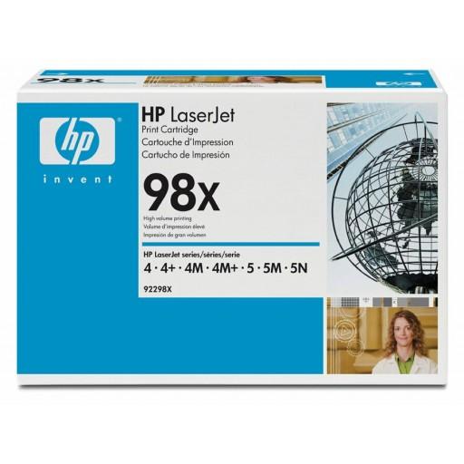 HP 4, 4 C2001A, 4M, 5, 5M, 5N, 5SE, 6 Toner Cartridge - HC Black Genuine (92298X)