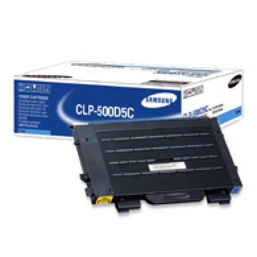 Samsung CLP-500D5C Toner Cartridge - Cyan Genuine