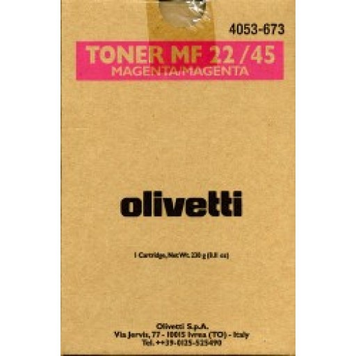 Olivetti B0482, Toner Cartridge- Magenta, MF22, MF45- Original