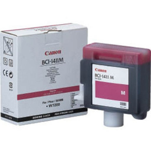 Canon W7200, W8200 BCI1411M Ink Cartridge - Magenta Genuine (7576A001AA)