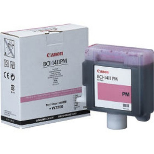 Canon W7200, W8200 BCI1411PM Ink Cartridge - Photo Magenta Genuine (7579A001AA)