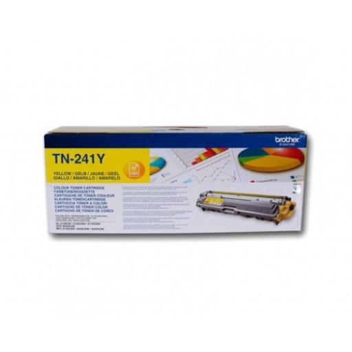Brother TN241Y, Toner Cartridge- Yellow, HL3140, MFC9140, MFC-9330CDW- Genuine