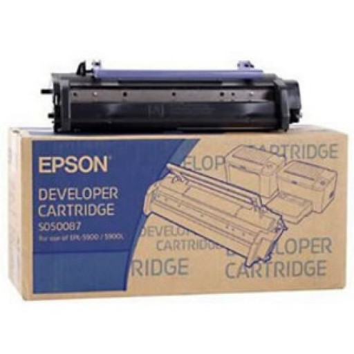 Epson C13S050087, Toner Cartridge Black, EPL-5900, 6100- Original