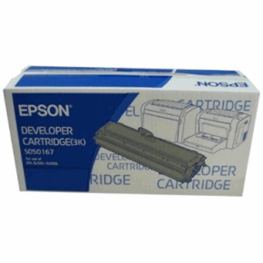 Epson C13S050167, Toner Cartridge Black, EPL-6200- Original