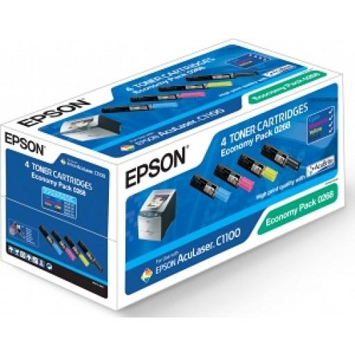 Epson C13S050268 Toner Cartridge - 4-Colour Multipack Genuine