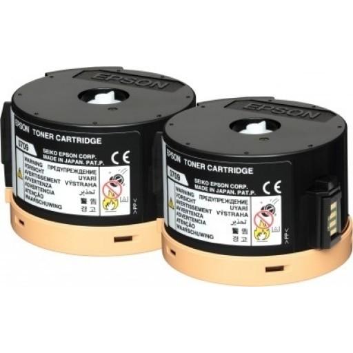 Epson AL-M200, AL-MX200 Toner Cartridge Pack of 2 - HC Black, C13S050710