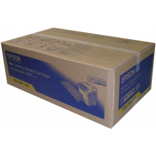 Epson C13S051124, Toner Cartridge Yellow, AcuLaser C3800- Original