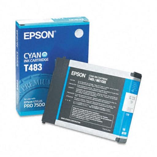 Epson T483 Ink Cartridge - Cyan Genuine