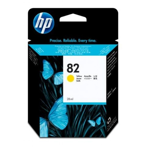HP C4913A No.82XL Ink Cartridge - HC Yellow Genuine