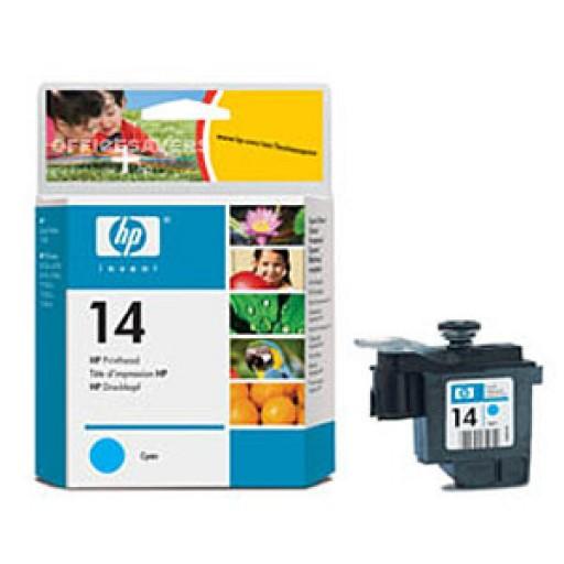HP C4921DE No.14 Cyan Printhead Genuine