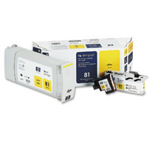 HP C4993A No.81 Yellow Printhead & Ink Cartridge Multipack Genuine