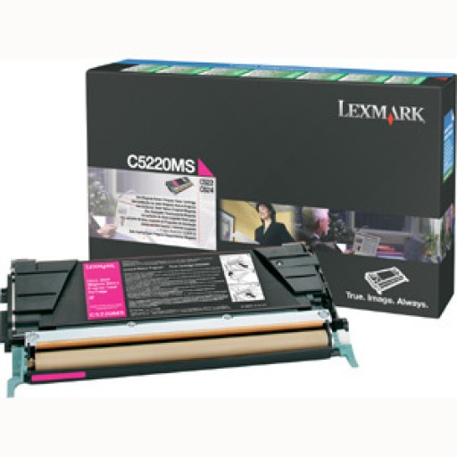 Lexmark C5220MS, Toner Cartridge- Magenta, C522, C524- Genuine
