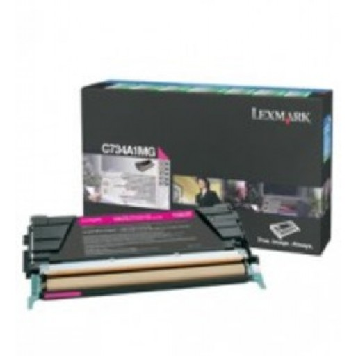 Lexmark C734A1MG, Toner Cartridge- Magenta, C734, C736, X736, X738- Genuine
