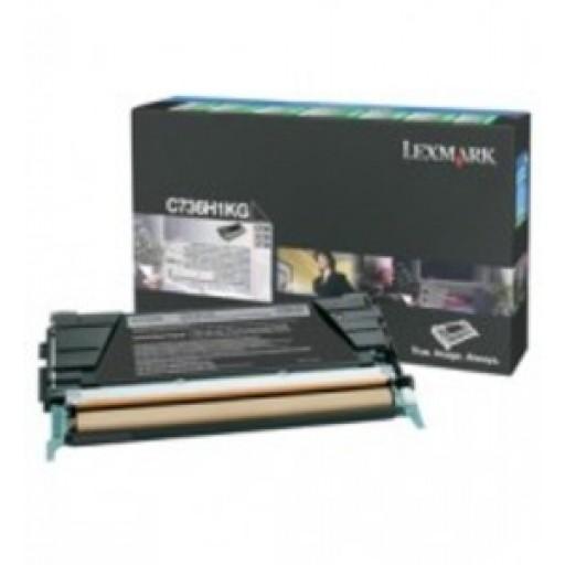 Lexmark C736H1KG, Toner Cartridge- HC Black, C736, X736, C738, X738- Genuine