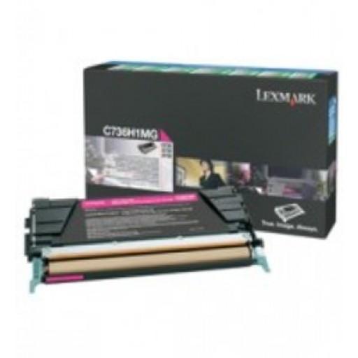 Lexmark C736H1MG, Toner Cartridge- HC Magenta, C736, X736, C738, X738- Genuine