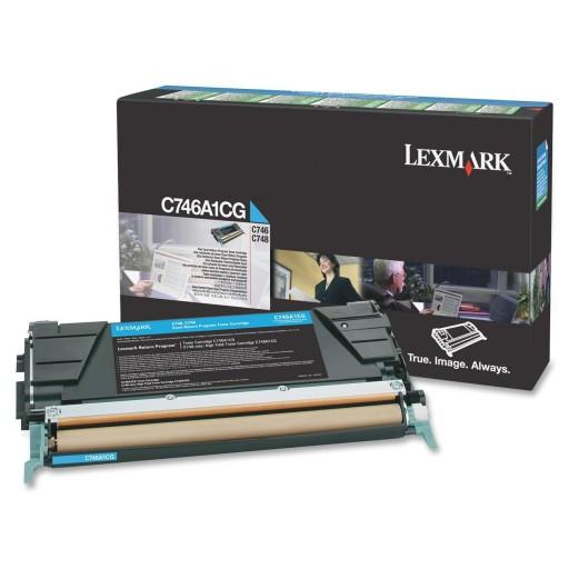 Lexmark C746A1CG, 746/748 Return Program Toner Cartridge - Cyan