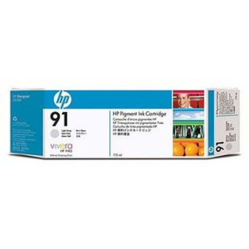 HP C9466A No.91 Ink Cartridge - Light Grey Genuine