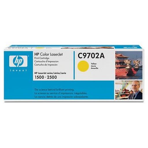 HP 1500, 1550, 2500 Toner Cartridge - Yellow Genuine (C9702A)