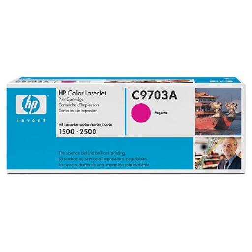 HP 1500, 1550, 2500 Toner Cartridge - Magenta Genuine (C9703A)