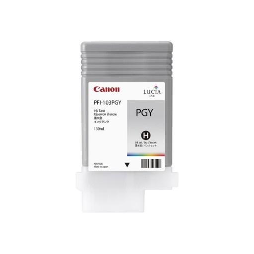 Canon 2214B001AA, PFI-103PGY Ink Cartridge, iPF6100, iPF6200 - Photo Gray Genuine