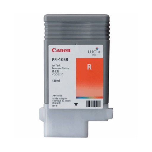 Canon 3006B005AA, PFI-105R Ink Cartridge, iPF6300, iPF6350 - Red Genuine