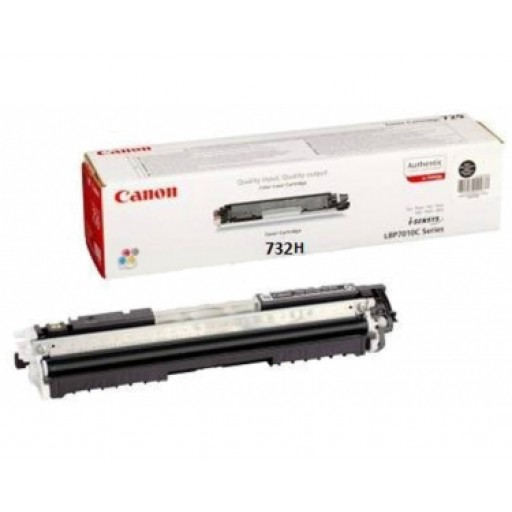 Canon 6264B002, 732H Toner Cartridge, i-Sensys LBP7780CX - HC Black Genuine
