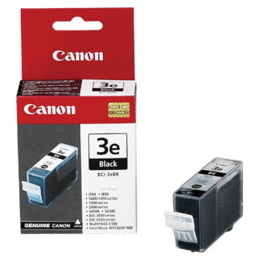 Canon BCI-3EBK, Ink Cartridge Black, BJ-S700, BJC-3000- Original